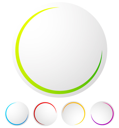 Circular preloader  progress indicator at 5 stages with different colors Illustration