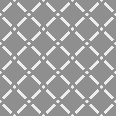 transverse: Dotted grid mesh pattern. Squares with circle nodes. (Seamless, repeatable) Illustration
