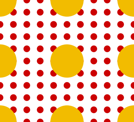 Circles pattern - Basic duotone, red-yellow repeatable pattern