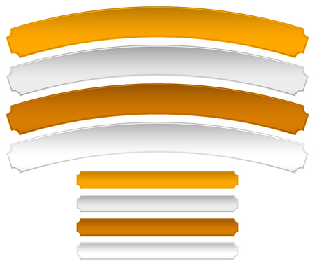 metalic sheet: Gold, silver, bronze metal plaques, banners. Distortion and normal version