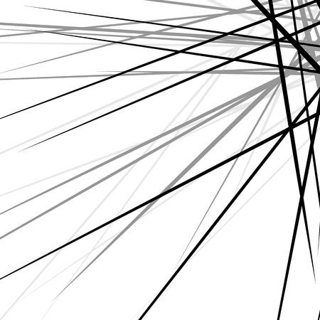 disturbance: Random chaotic edgy lines. Abstract geometric texture