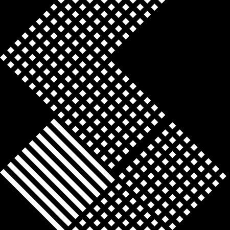 Grid, mesh irregular repeatable pattern, black white texture Illustration