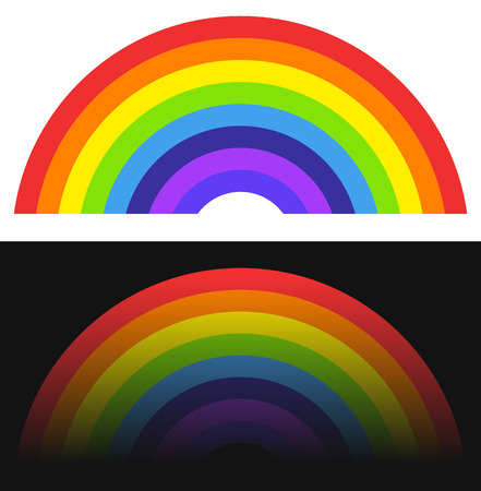 natural arch: Rainbow shape  element with normal and fading version