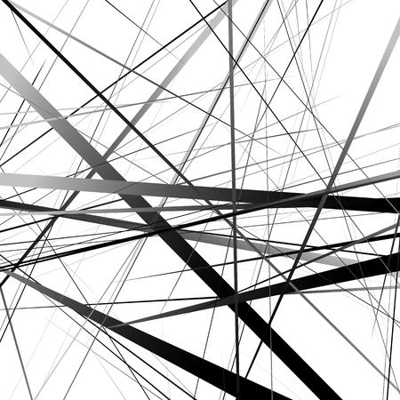 asymmetric: Geometric art random intersecting lines. Asymmetric irregular lines pattern.