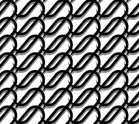 interlacing: Grid, mesh with interlacing lines. Repeatable geometric pattern.