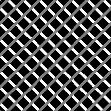 cellular: Cellular, grid seamless black and white pattern Illustration