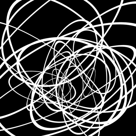 undulate: Random circles, ovals forming squiggly lines. Abstract artistic - geometric element.