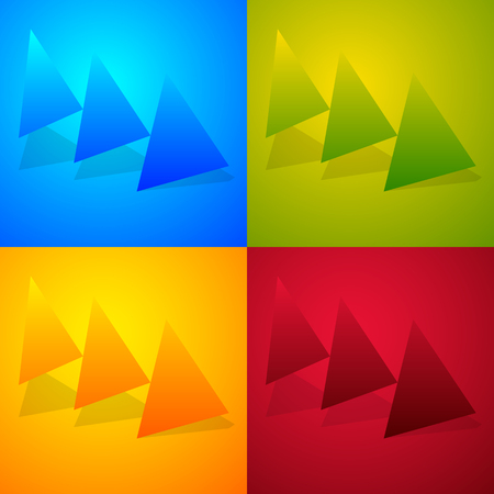 Triple, 3 arrows in more colors. Locate, fast forward, fastness concepts. Colorful arrow shapes, arrow elements.