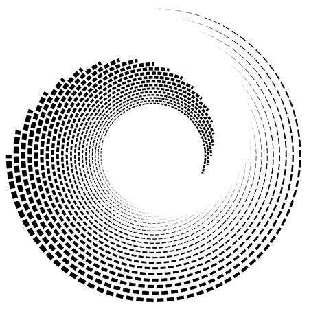 twist: Spiral, vortex shape, element. Inward spiral isolated on white