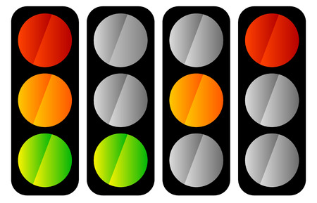 Simple traffic light  traffic lamp icon set Illustration