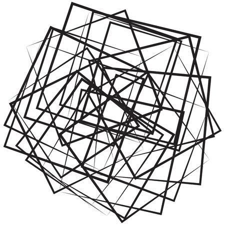 irregular: Geometric abstract illustration with irregular squares. Modern art illustration Illustration