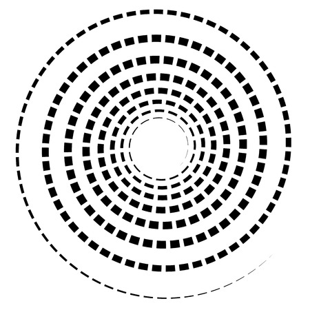 spire: Black spiral element with dashed  segmented line on white Illustration