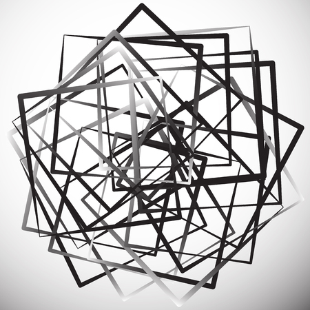 tense: Geometric abstract illustration with irregular squares. Modern art illustration Illustration