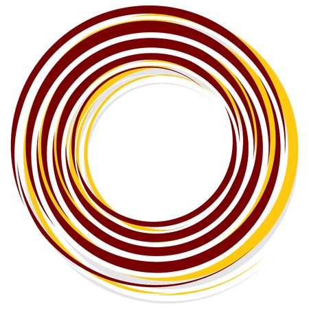 Resumen elemento de decoración espiral en rojo y amarillo Vectores