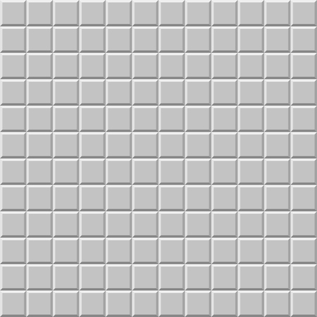 basic: Mosaic of beveled tiles. Basic colorless tileable pattern background.