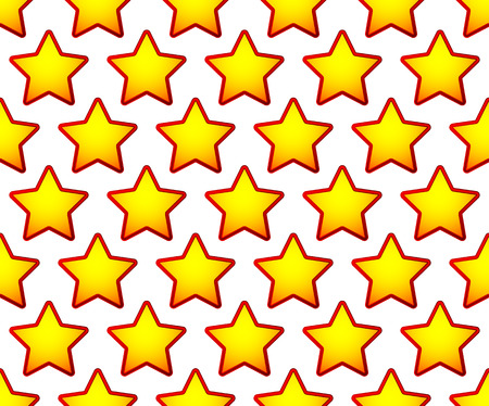 Repeatable pattern with red, yellow star shapes Illustration