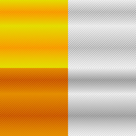 metalic sheet: Precious metal, gold, silver, bronze, platinum patterns, backgrounds. (Each square is repeatable) Illustration
