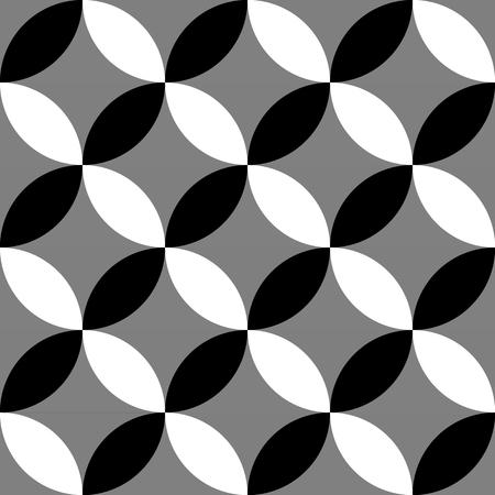 Geométrico blanco y negro patrón / fondo. Perfectamente repetible.