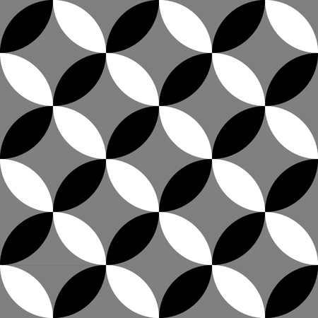 Geometric black and white pattern  background. Seamlessly repeatable.