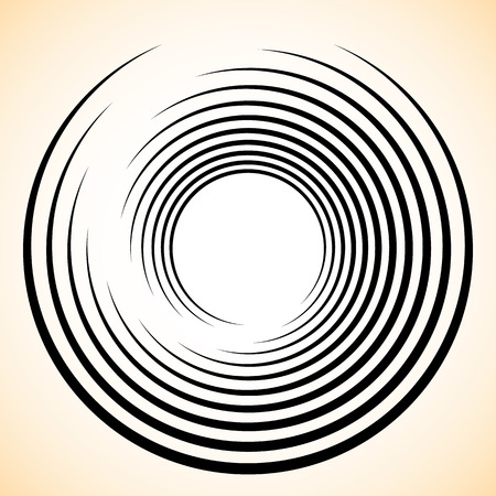 radiating: Spiral  Vortex element. Concentric, radiating lines abstract graphic