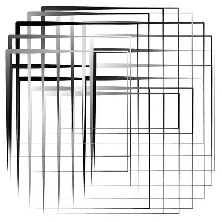 Geometric abstract illustration with irregular squares. Modern art illustration