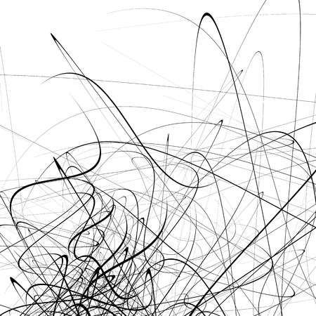 squiggle: Monochrome random chaotic squiggle lines abstract artistic pattern