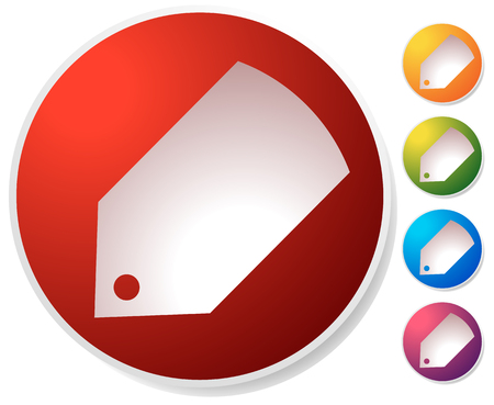 Price tag, label icon in several colors. Sales, promotion, marketing, discount concepts.