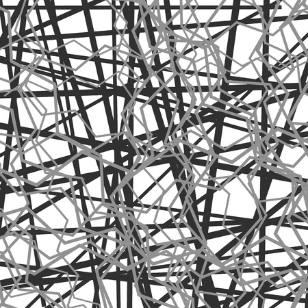 wriggle: Random chaotic lines abstract grayscale texture  pattern