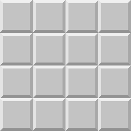 colorless: Mosaic of beveled tiles. Basic colorless tileable pattern background.