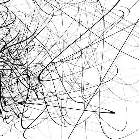 squiggly: Monochrome random chaotic squiggle lines abstract artistic pattern