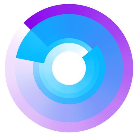 フェージングの同心円。透明性と幾何学的な要素の循環