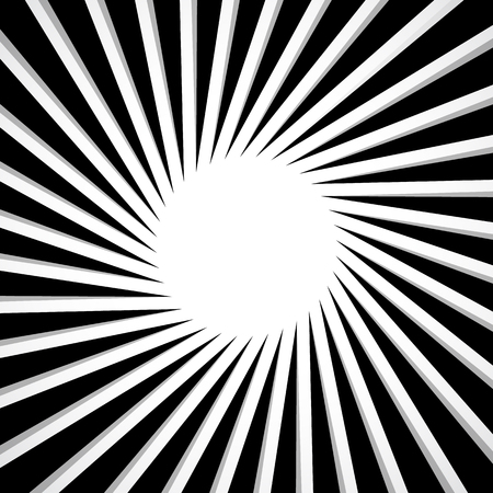 epicentre: Black and white radial - radiating lines circular pattern