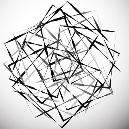 Illustrazione astratta geometrica con quadrati irregolari. Illustrazione di arte moderna