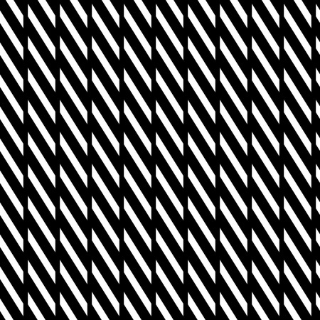 grillage: Geometric seamless monochrome pattern with parallelograms, squares.