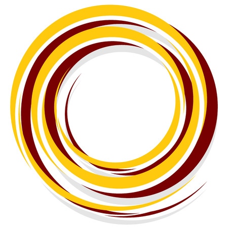 Abstract spiral decoration element in red and yellow Illustration