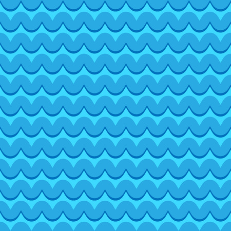 snaky: Wavy lines seamless repeatable pattern in aqua, blue colors Illustration
