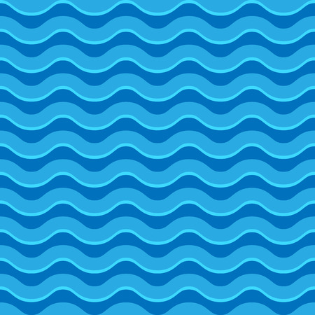 undulating: Wavy lines seamless repeatable pattern in aqua, blue colors Illustration