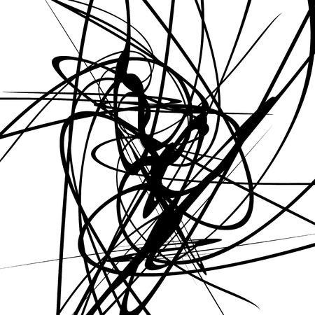 squiggle: Squiggle dynamic lines. Curvy lines geometric monochrome illustration, art Illustration