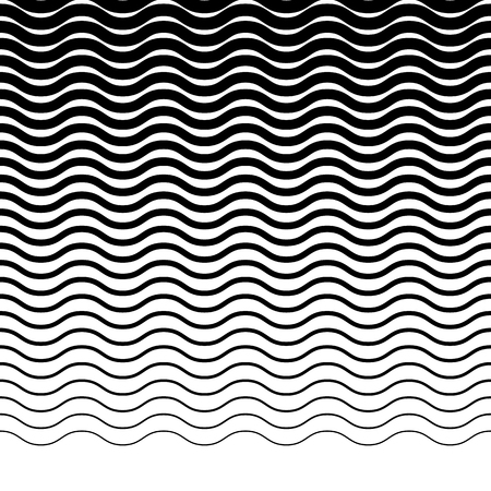 Parallel wellig-Zick-Zack-horizontale Linien - Horizontal wiederholbare geometrische Muster Vektorgrafik