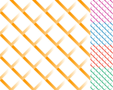 Cellular grid, mesh pattern with shade. Interlaced overlapping lines.
