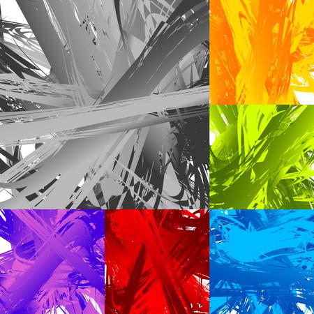 smeared: Painting-like smeared, smudged random artistic texture set Illustration