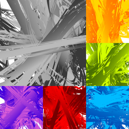 Painting-like smeared, smudged random artistic texture set Illustration