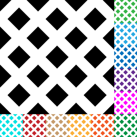 grid pattern: Grid, mesh, squares pattern in 12 colors