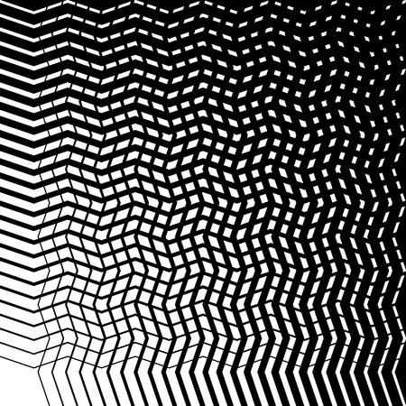 Grid mesh of irregular jagged, wavy lines. Abstract monochrome texture  patern