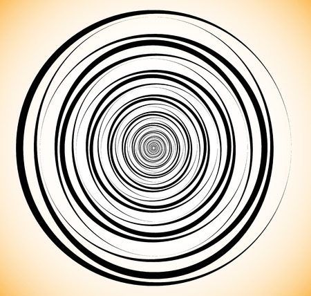 circulos concentricos: Random concentric circles. Abstract geometric spiral, swirl element.