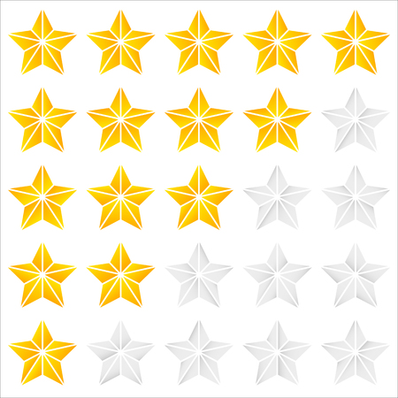topics: Geometric, contour faceted star icons - Quality, award, rating, ranking topics