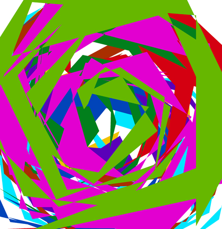 Abstract geometric art with random, unsettled edgy shapes