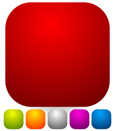 Button, badge shapes  backgrounds in several colors