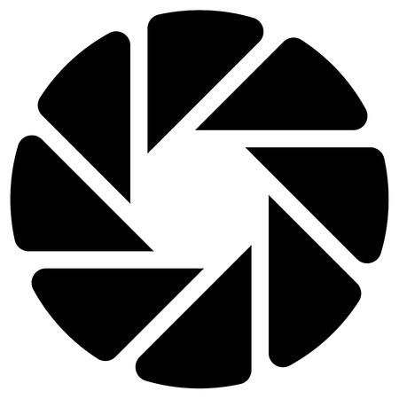 Die Membran Wie Kreisförmige Symbol Für Die Fotografie, Technik ...