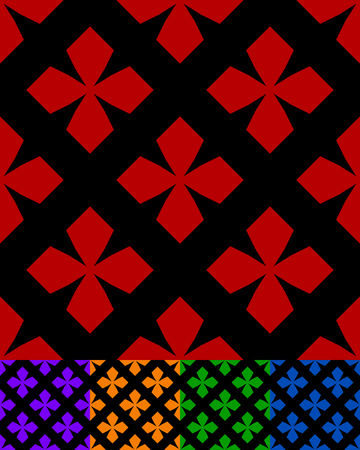outdated: simplified design of a classic folk textile, embroidery, carpet pattern - obsolete folklore art symbols, motifs specific to remote rural areas. textile swatch with rough, modest decoration.